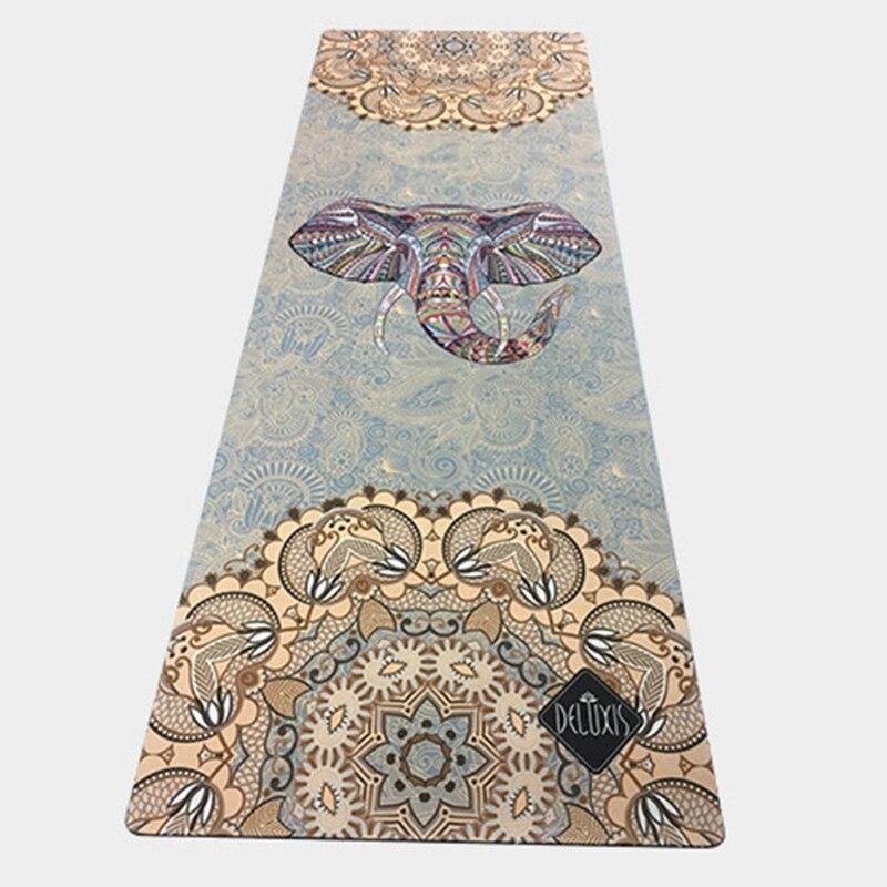 New Natural Rubber Sports Mat Colorful Elephant Rubber Non-slip Soft Comfortable Yoga Mat Printing Yoga Mat Fitness Mat